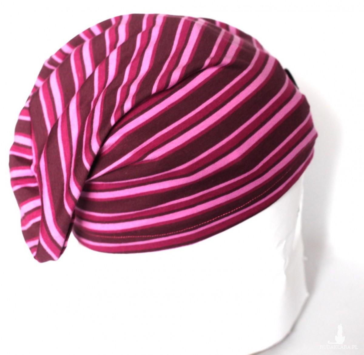 pasiasta dzianinowa czapka unisex