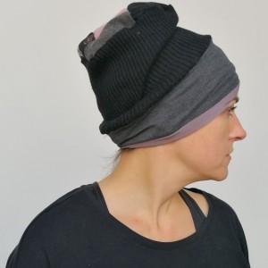 czapka etno boho damska smerfetka ciepłą uniwersalna