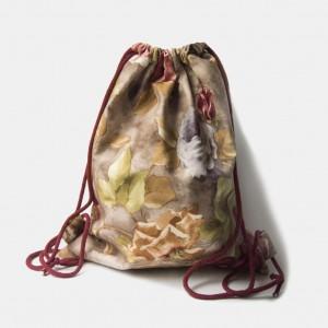 Różany plecak worek