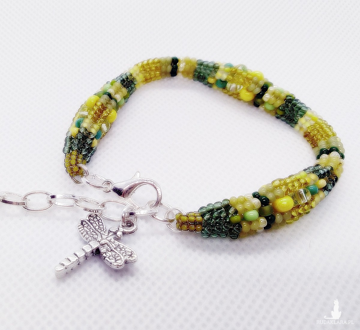 koralikowy naszyjnik boho wiosenny + bransoletka