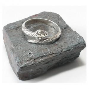 100 pierścionek vintage, wąż, żmija, srebrny, polski pierścionek; lata 1986 - 1996; duży rozmiar; pierścionek dla niej i dla niego