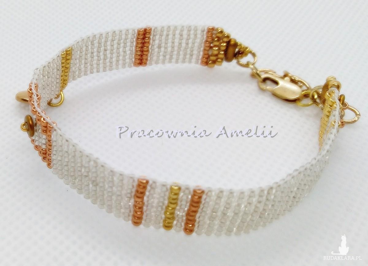 minimalistyczna srebrno-złota z zawieszką
