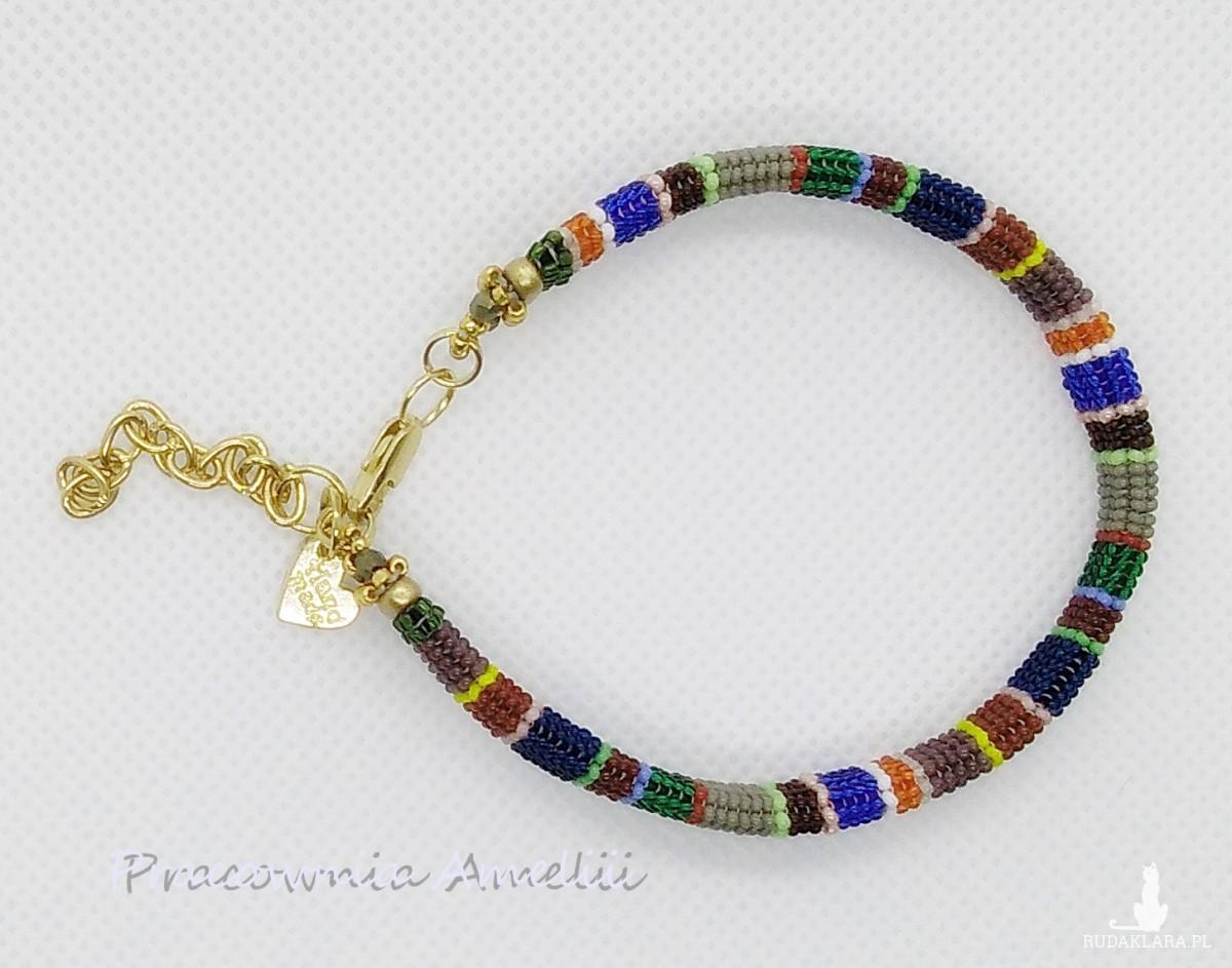 kolorowe paski wyjątkowa bransoletka beading