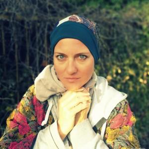czapka etno boho damska kolorowa patchworkowa długa