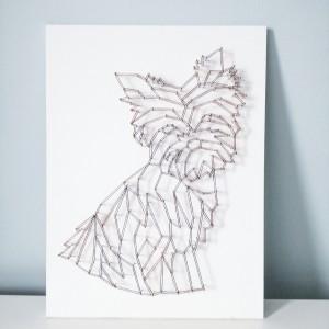 Dekoracja ścienna geometryczny york string art