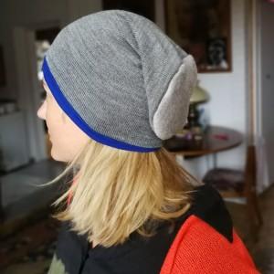 czapka zimowa dzianina wełna sportowa szara damska