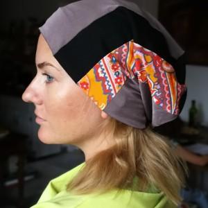 czapka damska codzienna patchworkowa