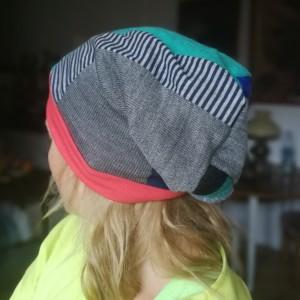 czapka etno boho szyta patchworkowo