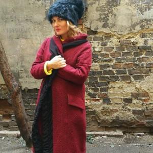 czapka damska czarna futrzana  włos- box m1- na podszewce, rozmiar 59-60cm, wysokość czapki 26cm,nierozciągliwa, polecam pojedyncza sztuka