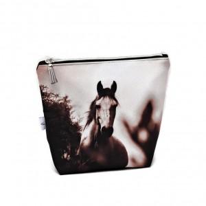 Kosmetyczka wodoodporna, saszetka do torebki koń