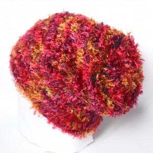 czapka damska bordo ciepła włochata