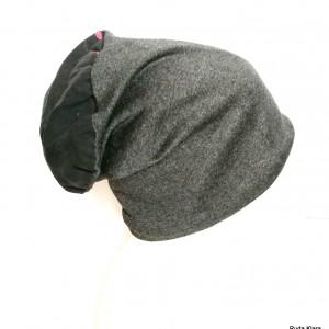 czapka damska szaro różowo siwo czarna codzienna