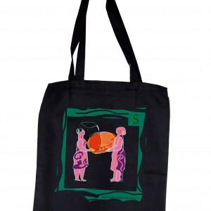 Dwie Kobiety - bawełniana torba na zakupy z autorską grafiką