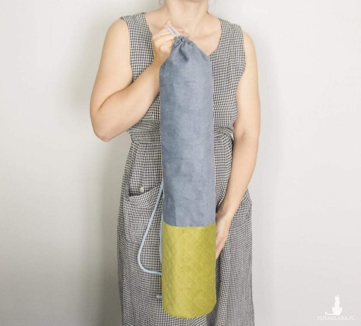 Niebiesko-zielony pokrowiec na matę do jogi