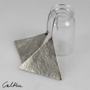 Trójkąty - srebrne kolczyki 191117-06