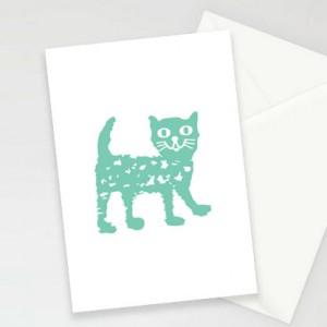 kot kartki, kartki z kotkiem, fajne kartki z kotem, oryginalne zaproszenia, zestaw 8 kartek, podziękowania dla gości