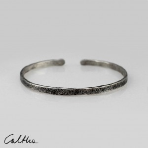 Nieregularna - srebrna bransoleta 190901-04
