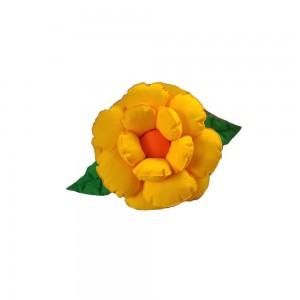 Poduszka dekoracyjna kwiat żółta