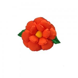 Poduszka dekoracyjna kwiat pomarańczowa