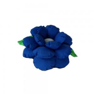 Poduszka ozdobna kwiatek chabrowa