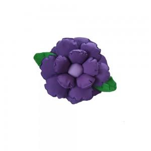 Poduszka ozdobna kwiatek ciemny fiolet