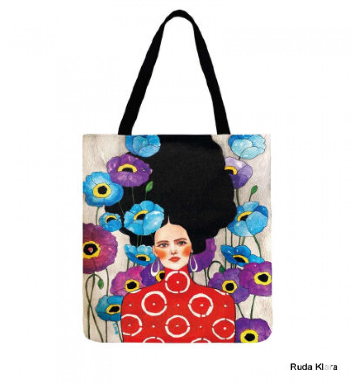 torba shopperka drukowana dwustronnie motyw kobiety
