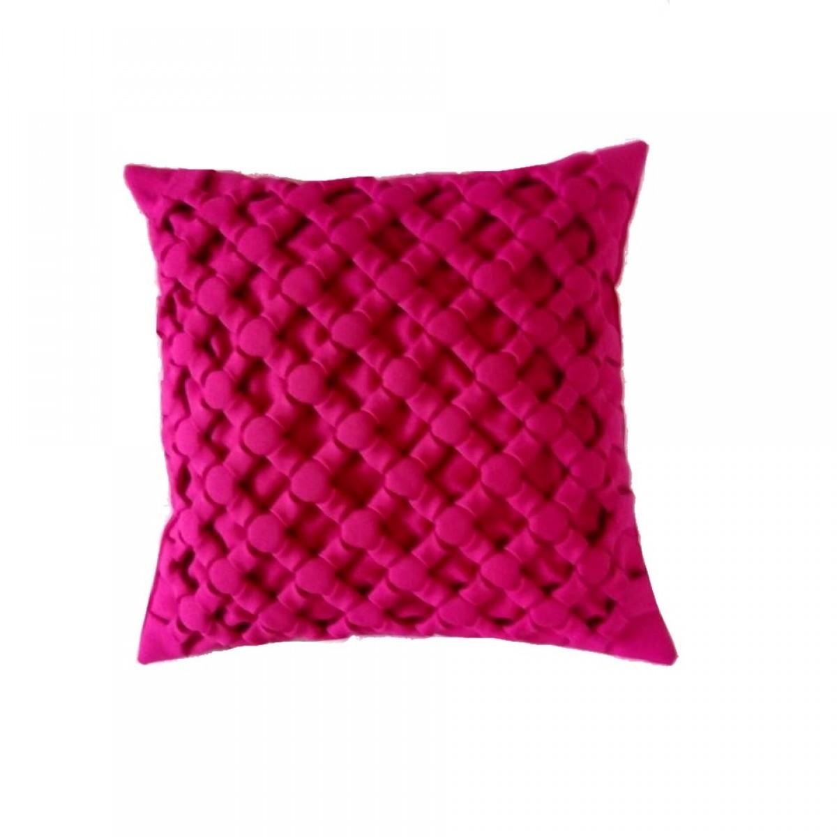 Poduszka dekoracyjna plecionka Canadian Origami ciemny róż