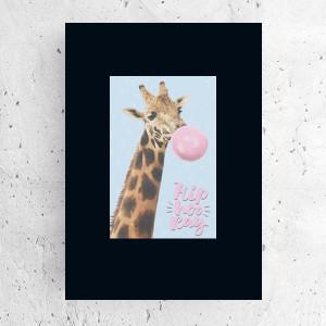 sowa plakat na ścianę, ładny plakat dla dzieci, kolorowy obrazek z sową, dekoracja do dziecięcego pokoju