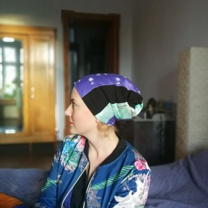 czapka damska szyta patchworkowo wiosenna