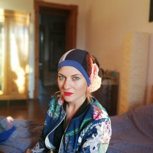 czapka damska patchworkowa wiosenna