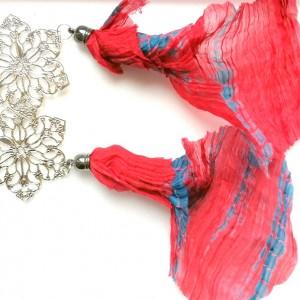 klipsy długie etno boho kolorowe folk handmade