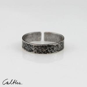 Kamień - srebrna obrączka 200305-03