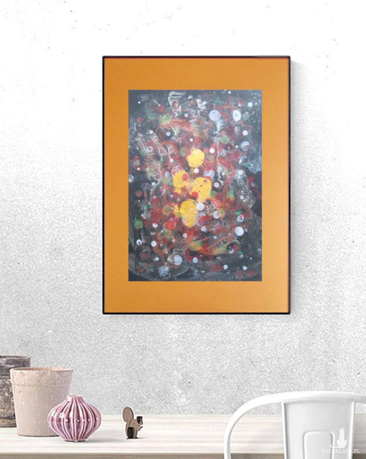 nowoczesna dekoracja na ścianę, abstrakcja do pokoju, oryginalna grafika