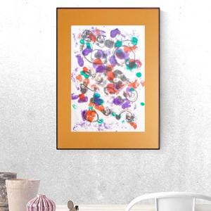 nowoczesna grafika na ścianę, oryginalna abstrakcja do pokoju, grafika do loftu