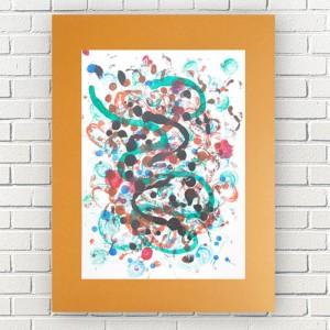 nowoczesna dekoracja na ścianę, abstrakcja do pokoju, minimalizm grafika