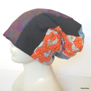 czapka damska etno boho handmade szyta patchworkowo wiosenna