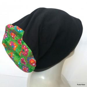 czapka bardzo duża wiosenna na dredy damska