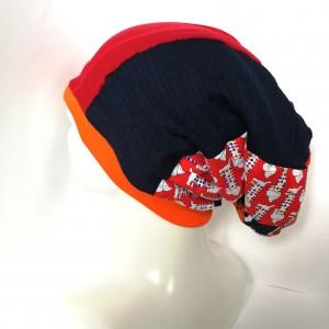 czapka damska patchworkowa uniwersalna wiosenna