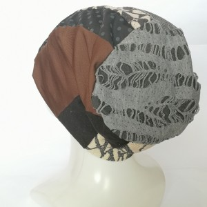 czapka damska szyta patchworkowo wiosenna dobra na codzinne noszenie