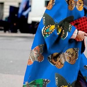 płaszcz wiosenny w motyle rozmiar L
