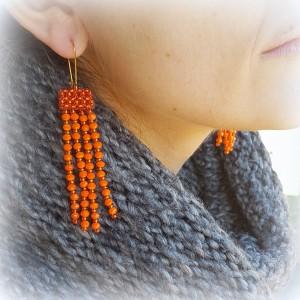 Kolczyki Glam Orange