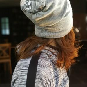 czapka szara damska wiosenna na podszewce typ sportowy