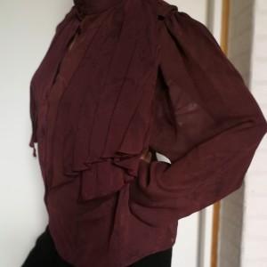 Bluzka bordowa w stylu vintage bardzo oryginalna