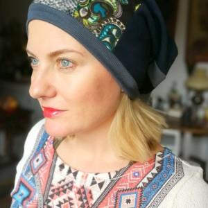 czapka etno boho kolorowa wiosenna