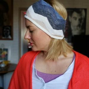 opaska damska dzianina swetrowa kolorowa