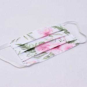 Maseczka dwuwarstwowa wielorazowa bawełniana maska na twarz rozm S/M/L kwiaty in garden