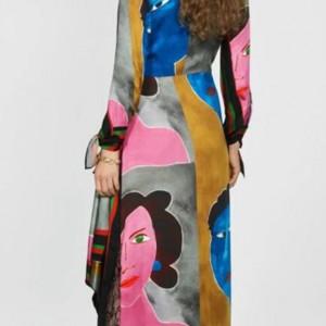 sukienka geometryczna długa rozmiar Xs-S