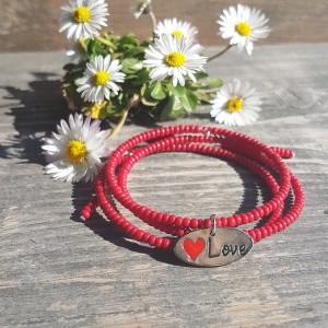 Bransoletka Czerwone Love