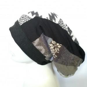 czapka damska kolorowa patchworkowa