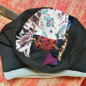 czapka wiosenna etno boho kolorowa